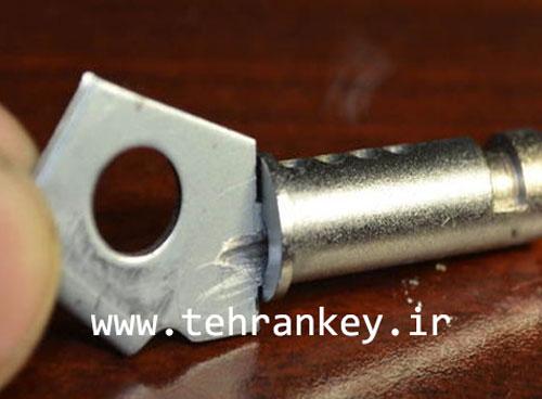 تعیین محل سوراخ هر پین روی کلید