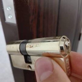 آموزش تعویض توپی قفل درب ضد سرقت