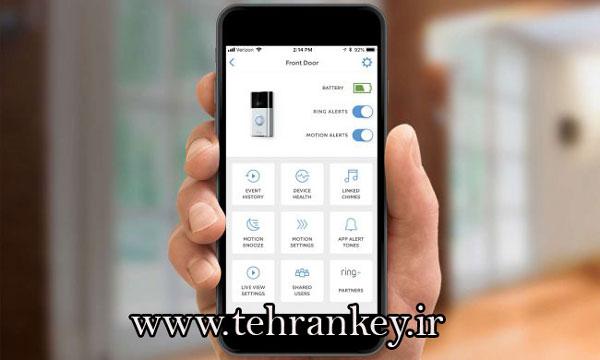 نصب نرم افزار زنگ درب روی گوشی