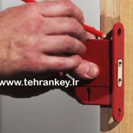 نحوه نصب قفل درب چوبی